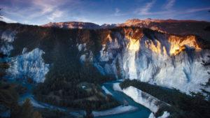Así es Rinaulta, el Gran Cañón de Suiza