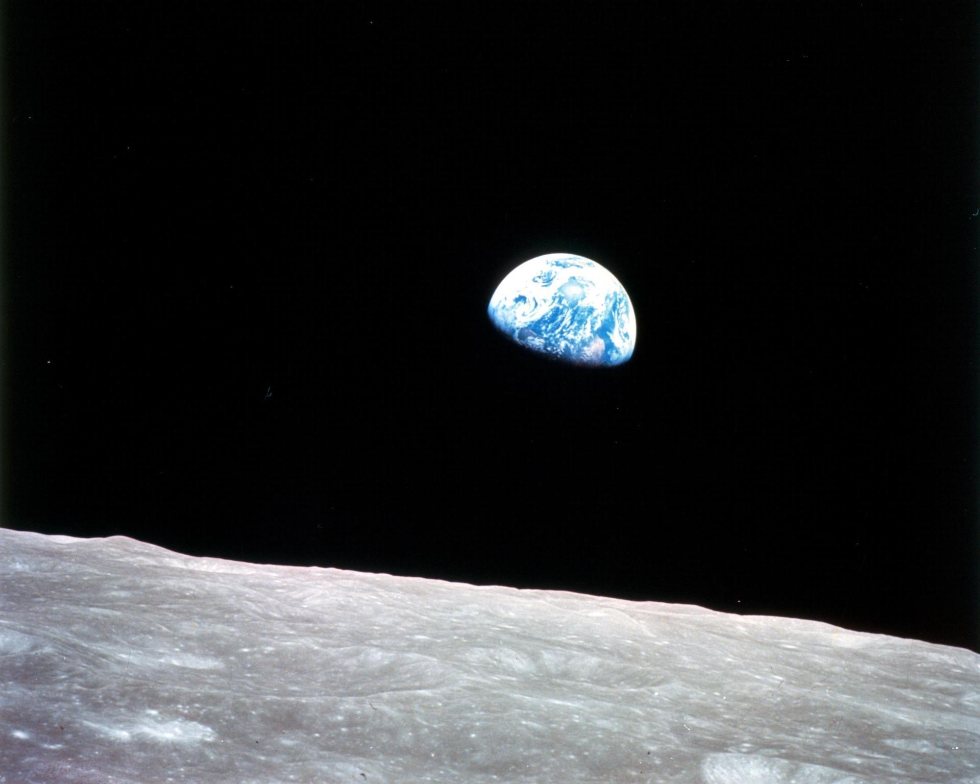 Earthrise: la primera mejor fotografía de la Tierra desde el espacio