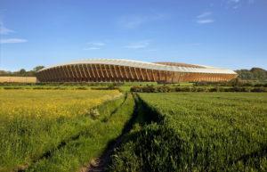 Fútbol inglés: así es el nuevo estadio construido totalmente en madera
