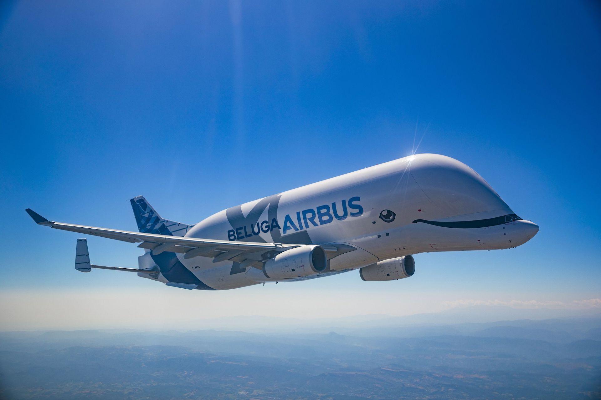 Así es el nuevo avión Airbus Beluga XL: ya está en el aire