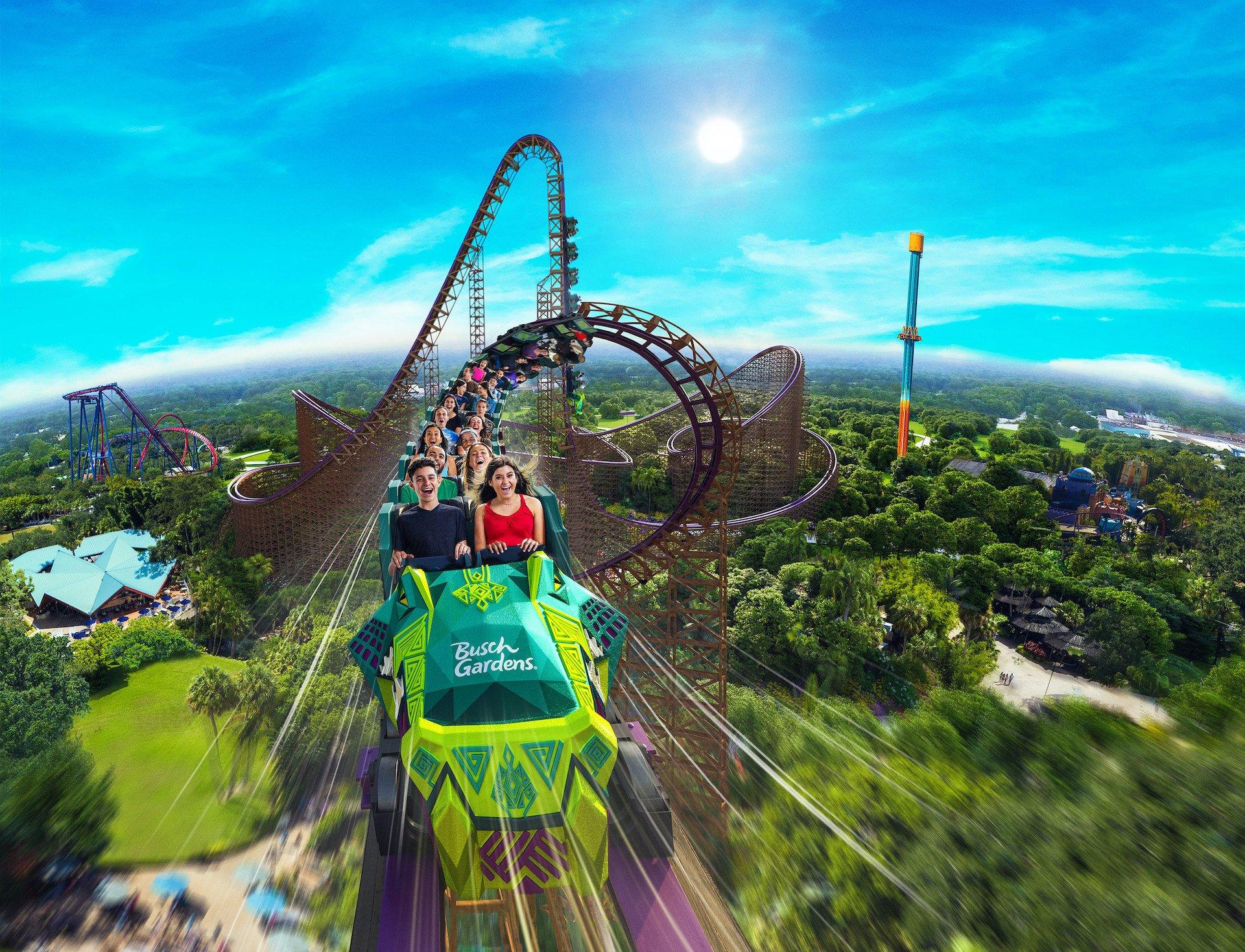 Iron Gwazi: abre en Busch Gardens la montaña rusa más rápida del mundo