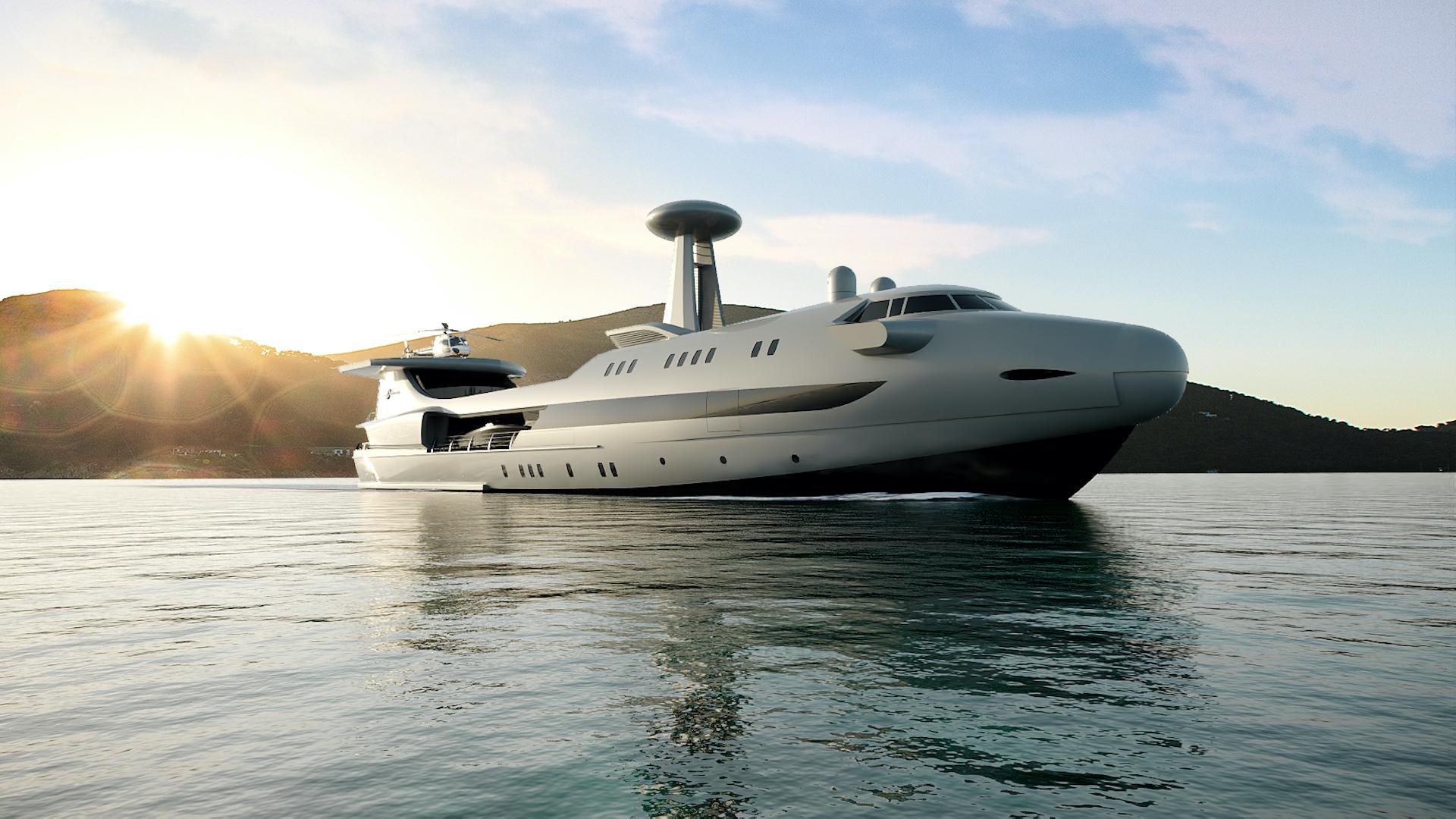 Codecasa Jet 2020: el superyate de lujo que parece un avión jumbo