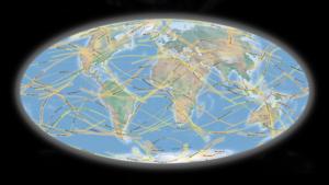 El mapa que muestra los eclipses solares desde 2020 a 2060