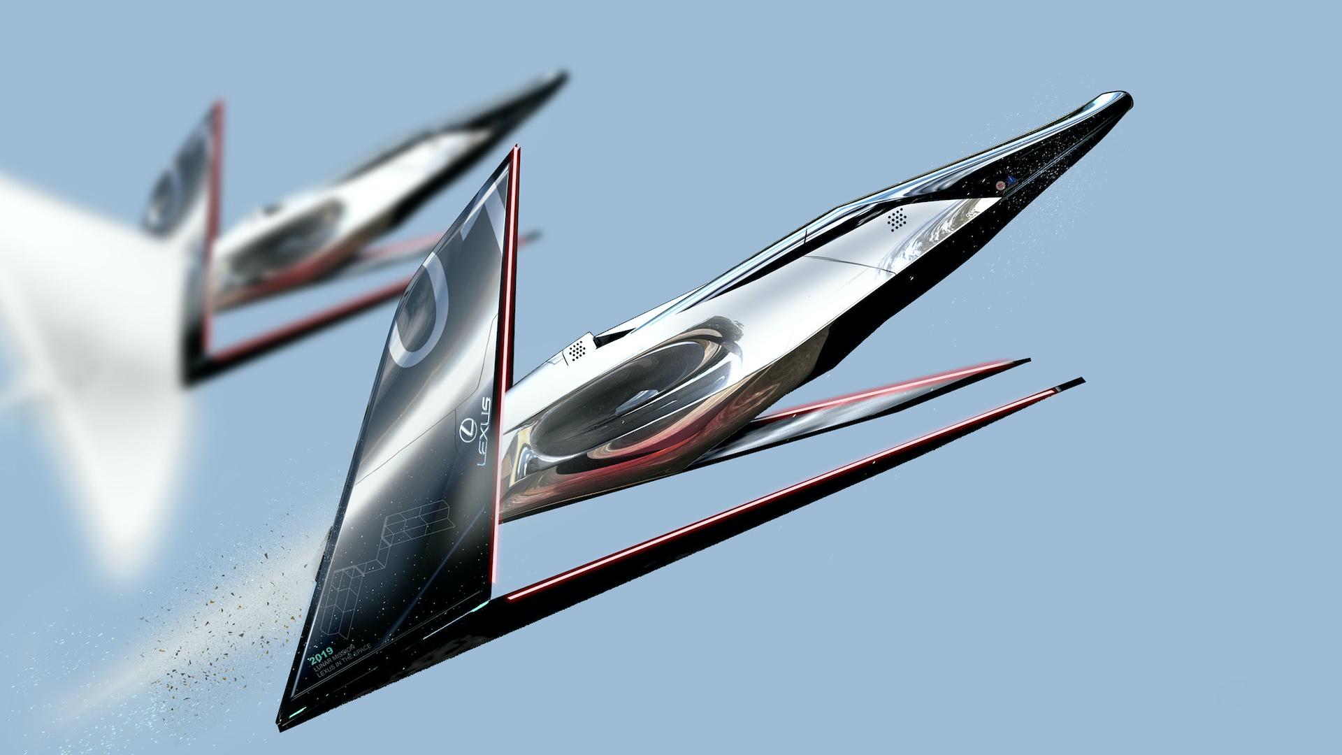 Lexus diseñó para viajar a la Luna increíbles naves y vehículos espaciales