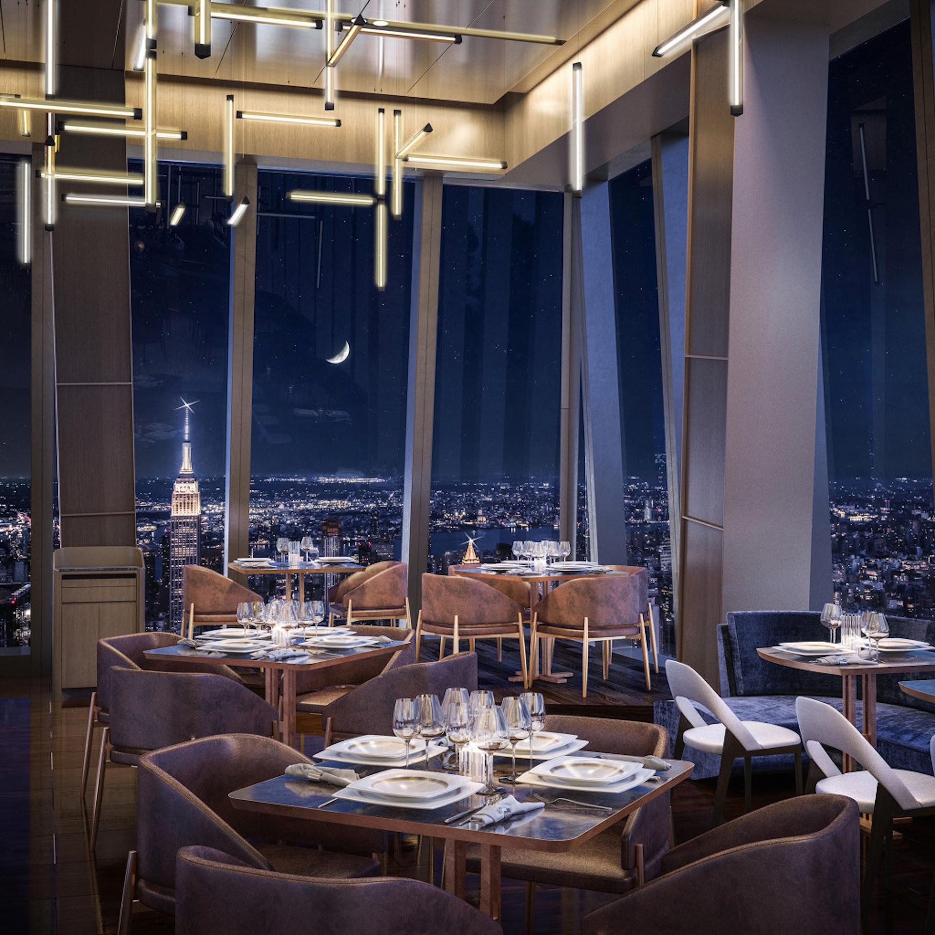 Así será Peak, el nuevo restaurante de Nueva York, en el piso 101