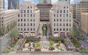 Así quedaría la renovada plaza pública del Rockefeller Center