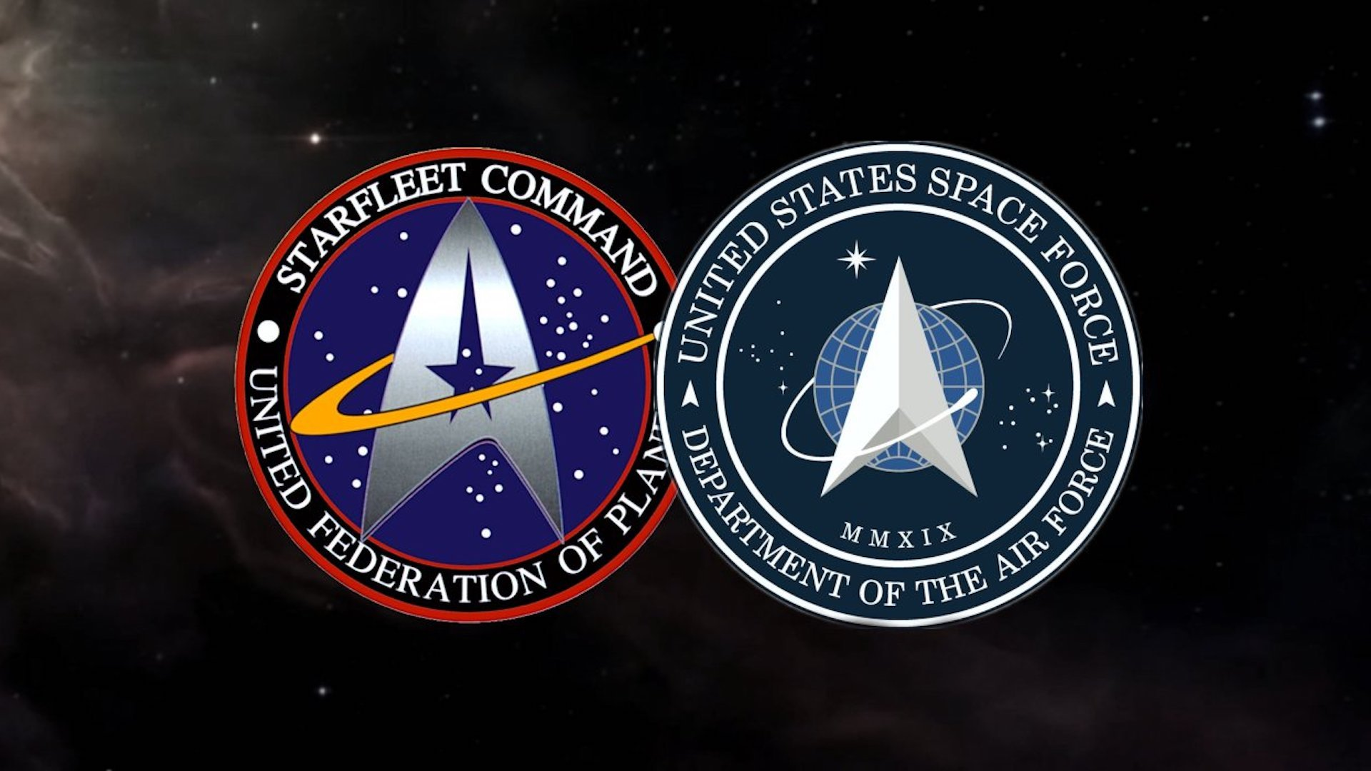 El logo de la Fuerza Espacial de Donald Trump es igual al de Star Trek