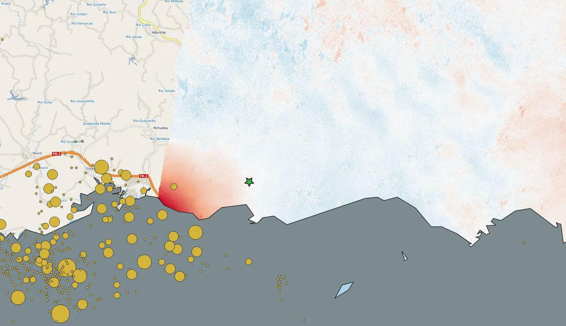 Tras el último terremoto en Puerto Rico, así cambió su superficie