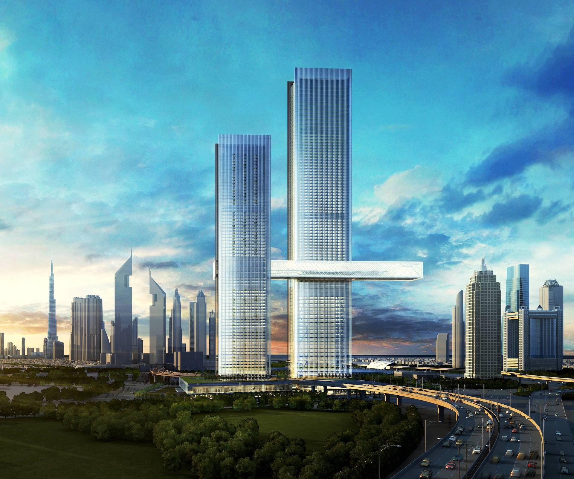 The Link Dubái: el rascacielos horizontal que sorprende al mundo