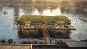 Así es la sorprendente oficina flotante en los Países Bajos