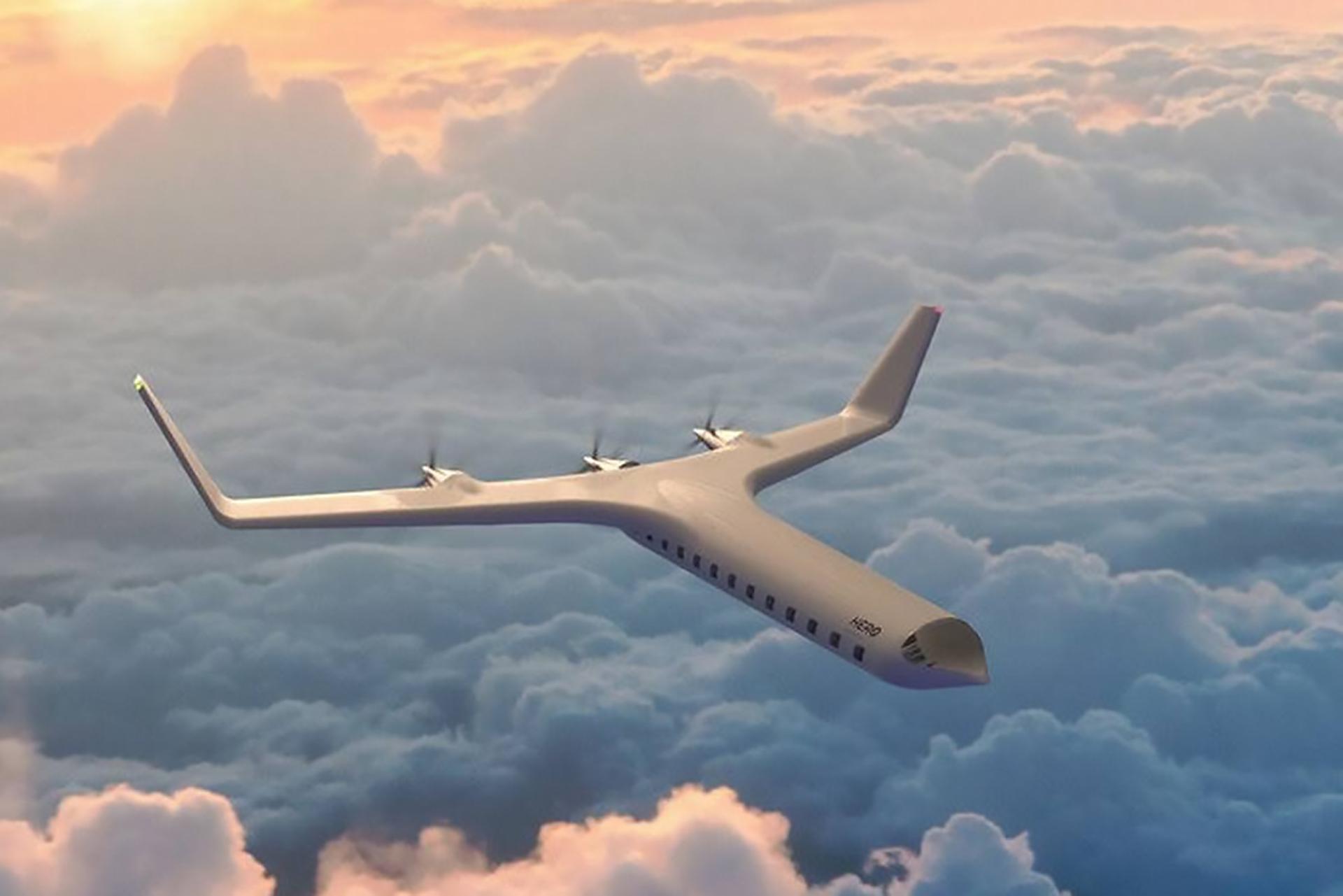 El sorprendente nuevo avión Her0 Zero: ecológico, futurista y elegante