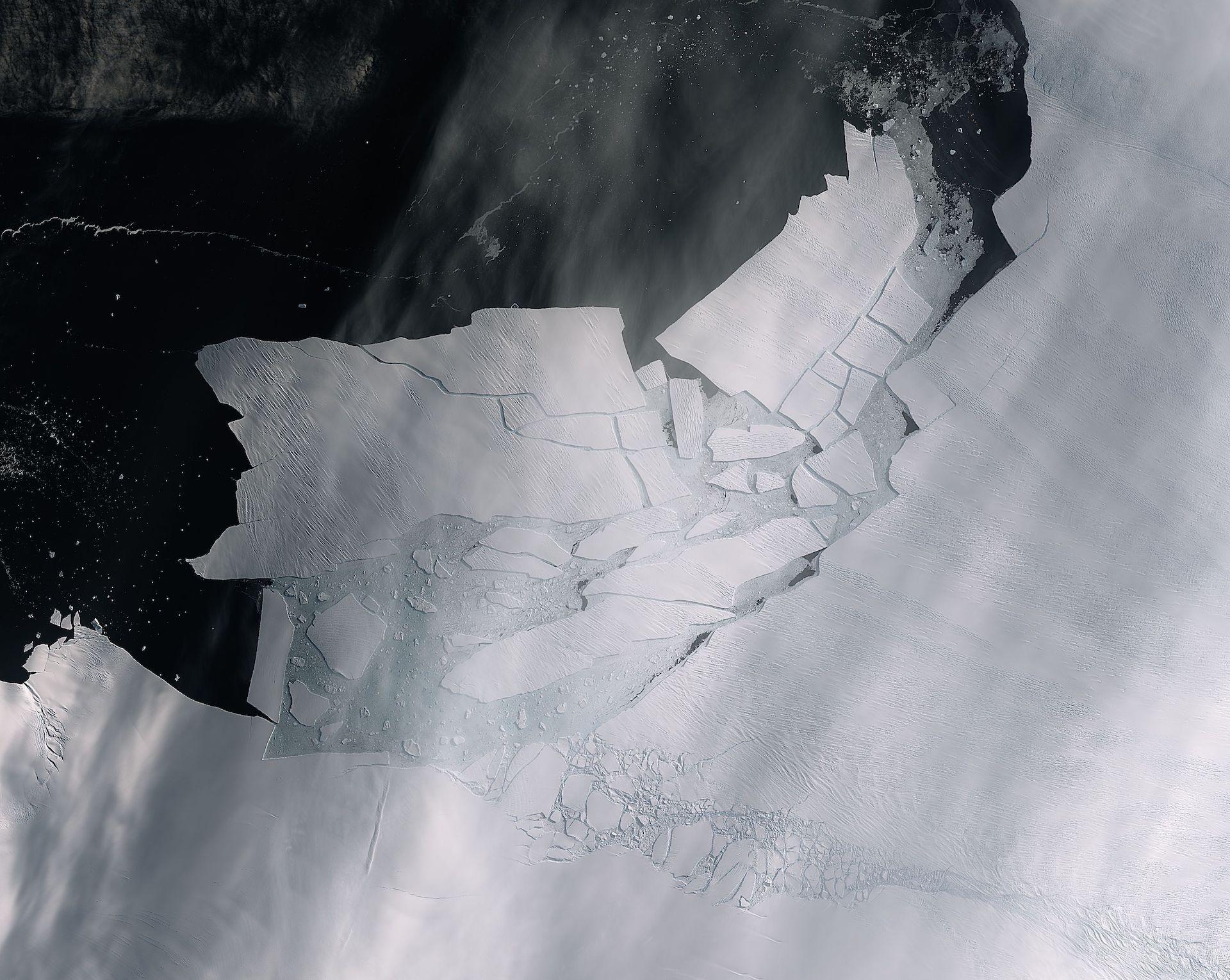 Un iceberg del tamaño de Malta se desprendió de un glaciar en la Antártida
