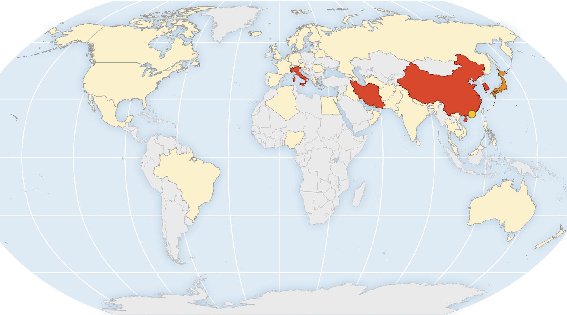A qué países se recomienda no viajar por el coronavirus COVID-19