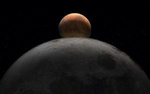 Esta semana, la Luna pasa por delante de Marte, Júpiter y Saturno