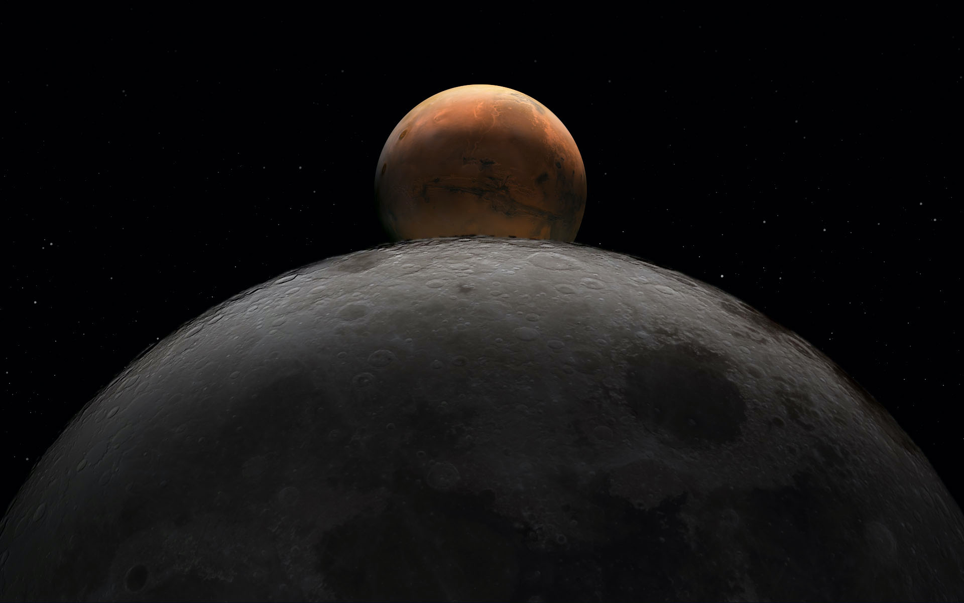 Durante dos días la Luna se deslizará entre Marte, Júpiter y Saturno