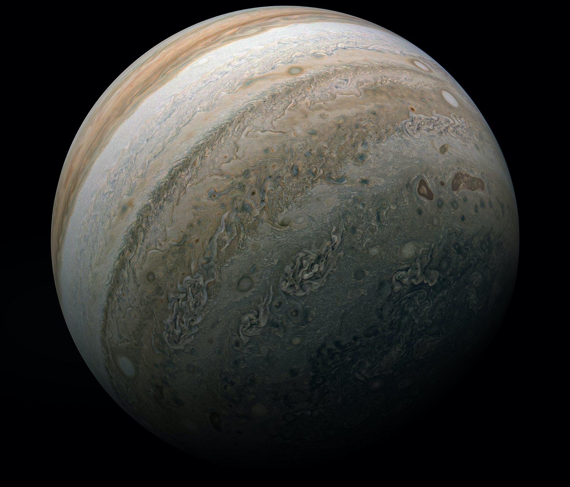 La nueva y asombrosa imagen de Júpiter tomada por la NASA