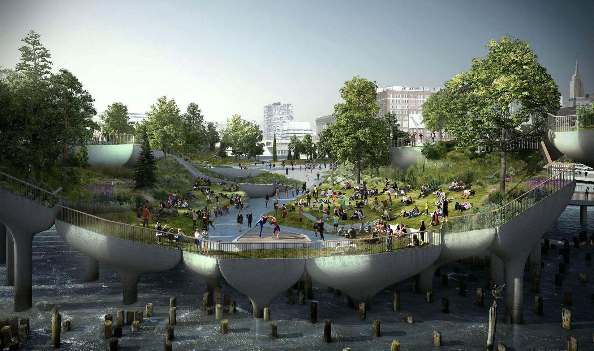 Así será Little Island: el nuevo parque flotante de Nueva York