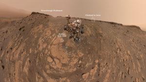 El rover Curiosity de la NASA tomó su selfie más llamativa desde Marte