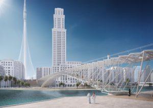 El impresionante puente peatonal en Dubái para llegar al rascacielos más alto