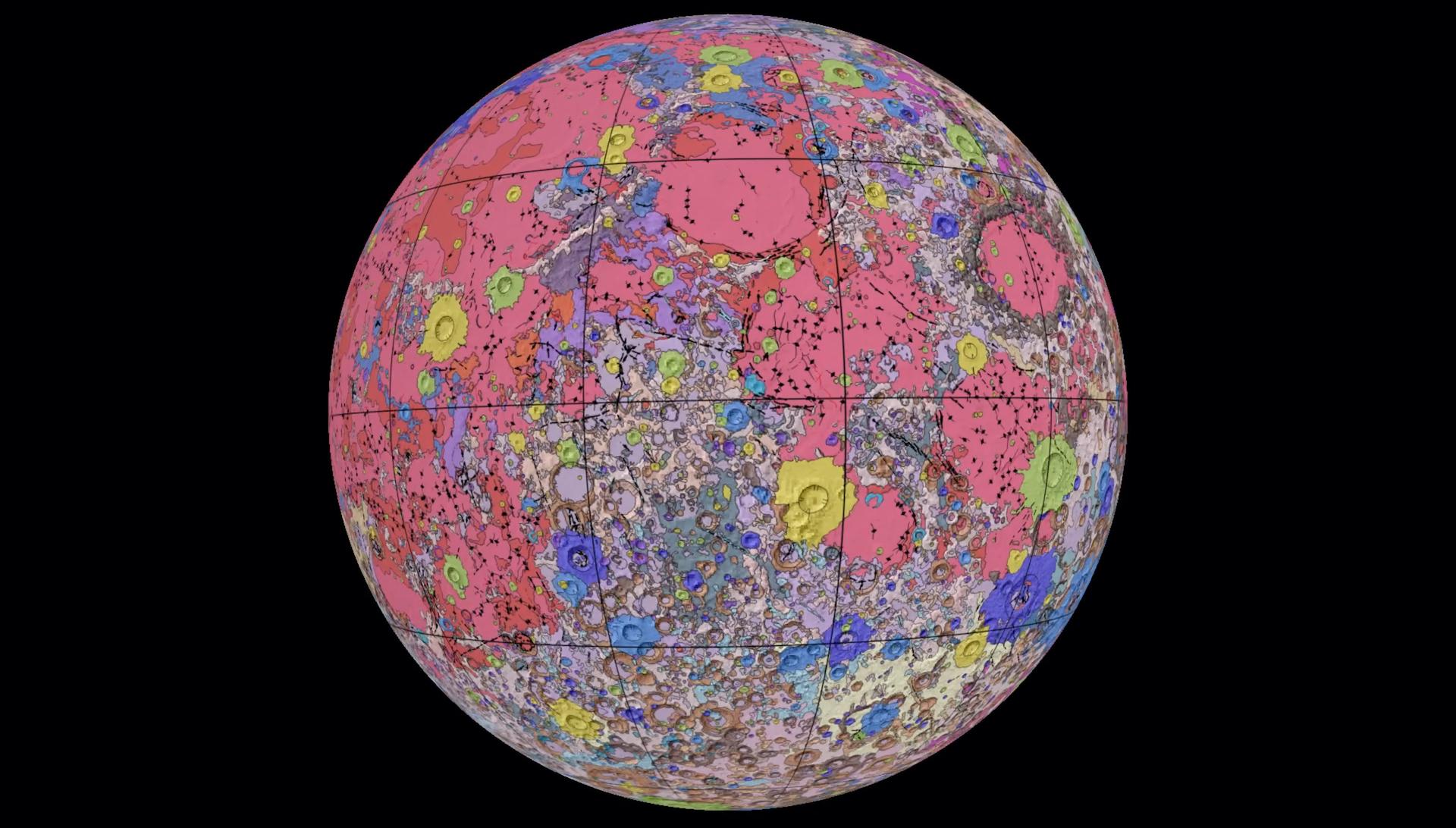 Este es el mejor mapa geológico de la Luna: video