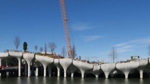 Así avanza la construcción de Little Island, el nuevo parque en New York