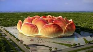 Así será el estadio de fútbol más grande del mundo: Lotus Flower