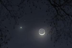 Esta semana, la Luna junto a Júpiter, Saturno y Marte