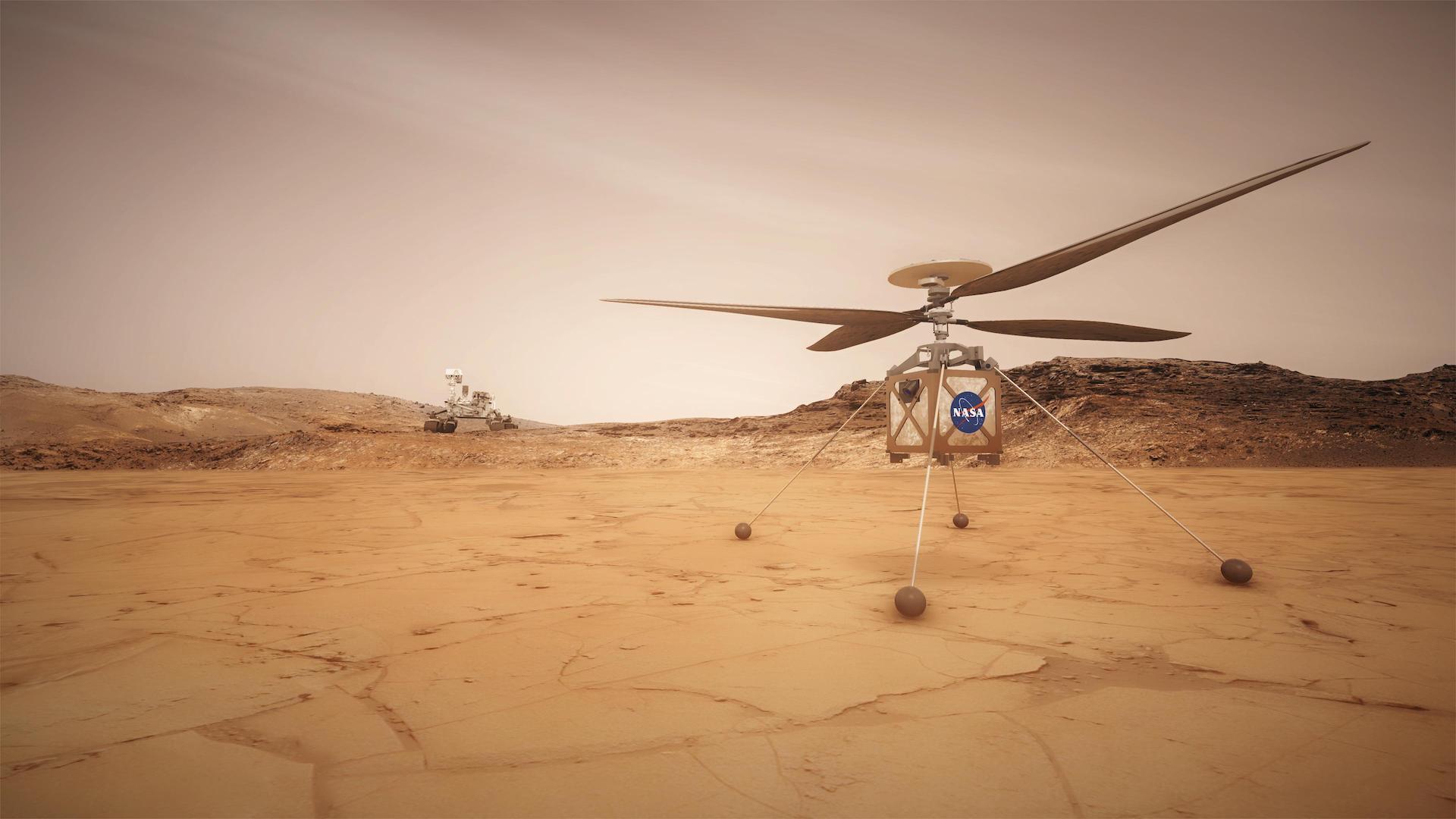 Este es Ingenuity: el helicóptero de la NASA que volará en Marte. Video