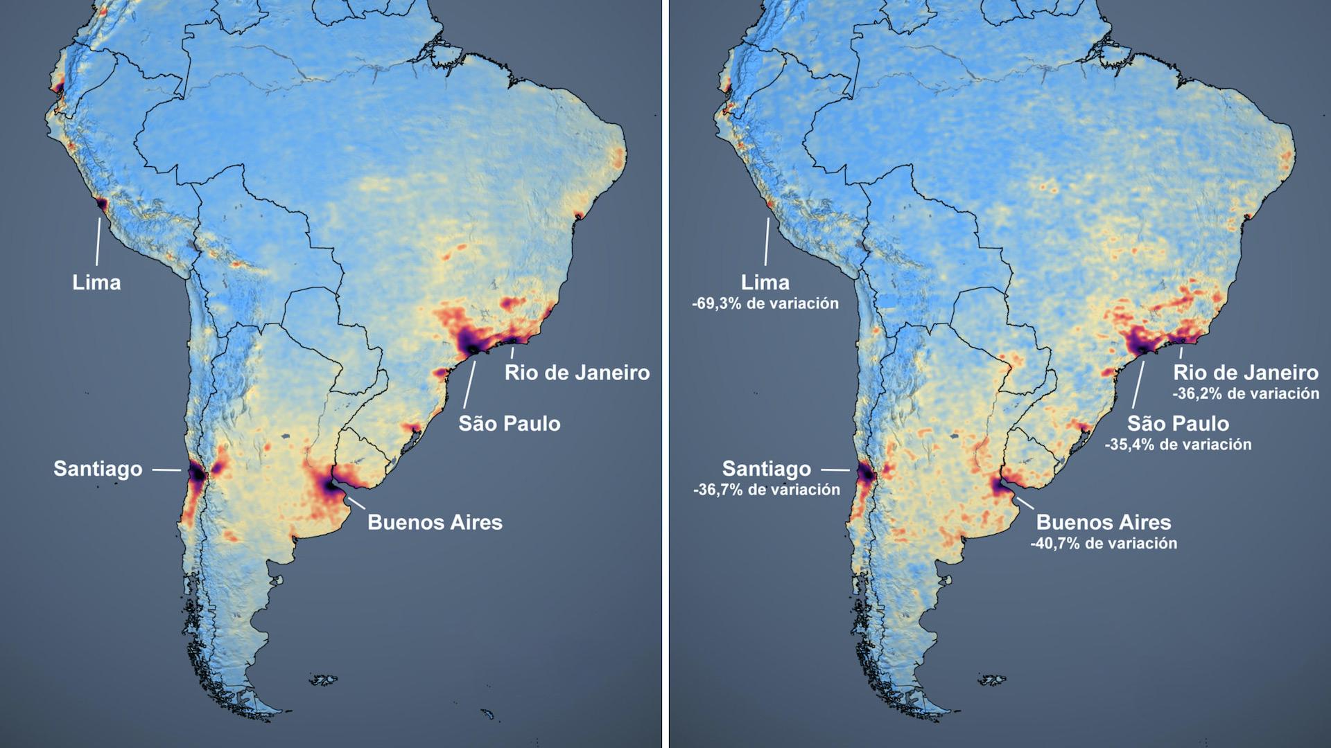 Bajó la contaminación ambiental en Latinoamérica por el coronavirus