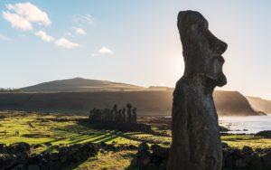 Qué son los moáis que se encuentran en la Isla de Pascua