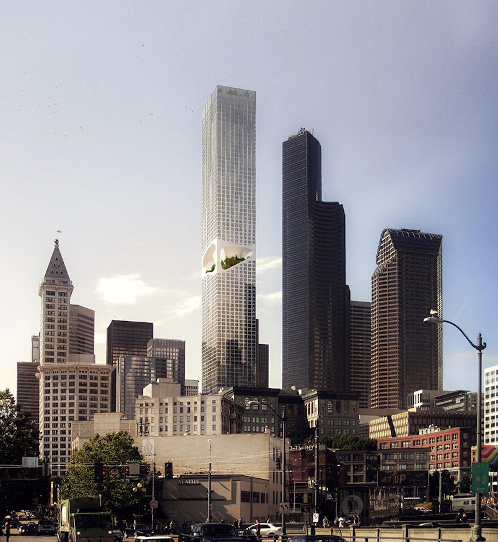 Seattle Tower: un fantástico rascacielos con un parque central