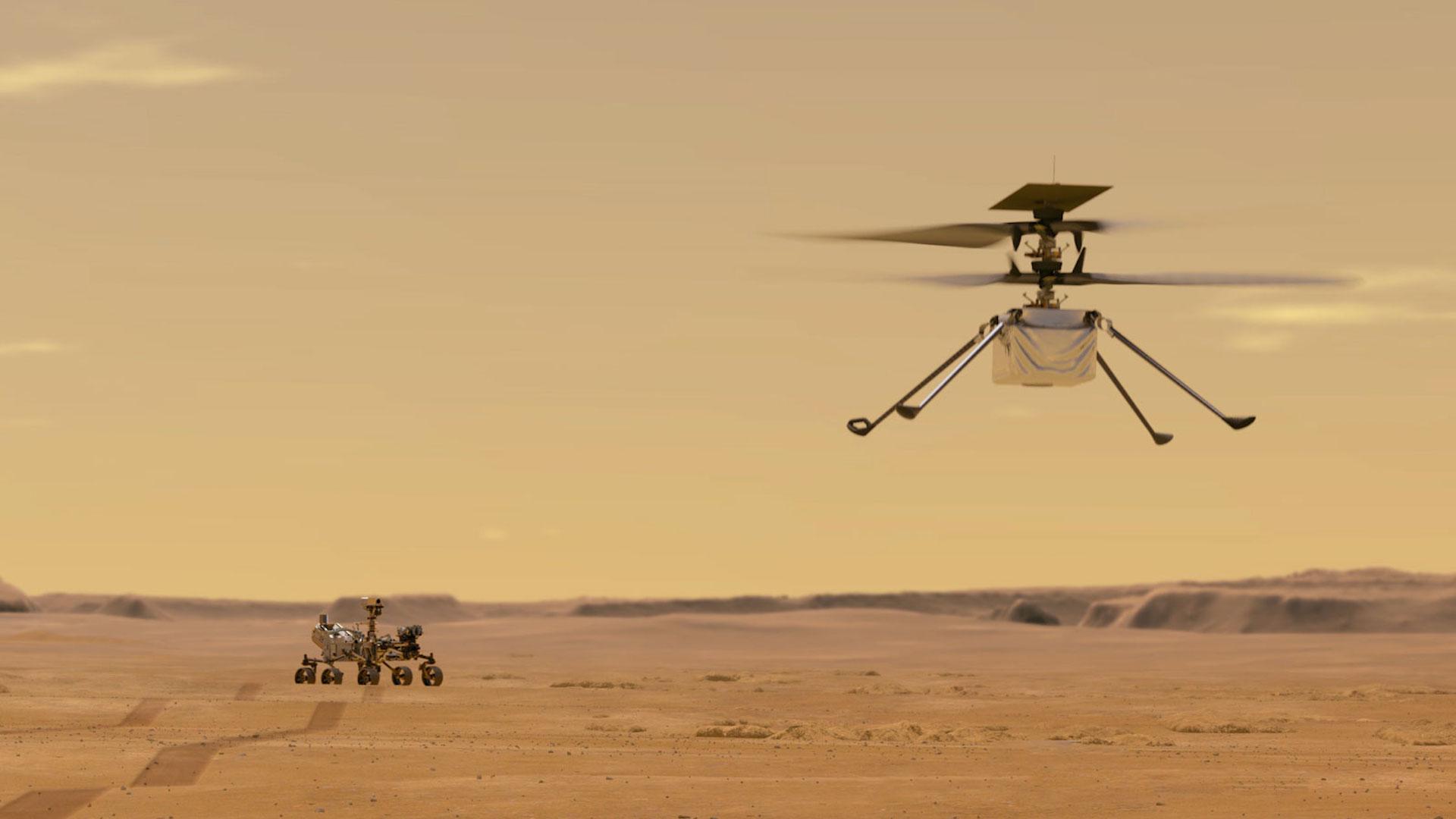 Rover Perseverance: así es el helicóptero Ingenuity que volará en Marte