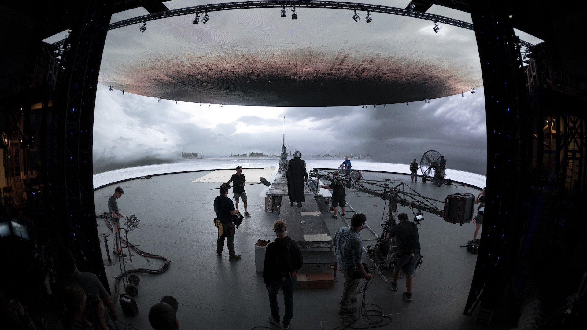 El novedoso sistema de filmación de The Mandalorian, la serie de Disney Plus