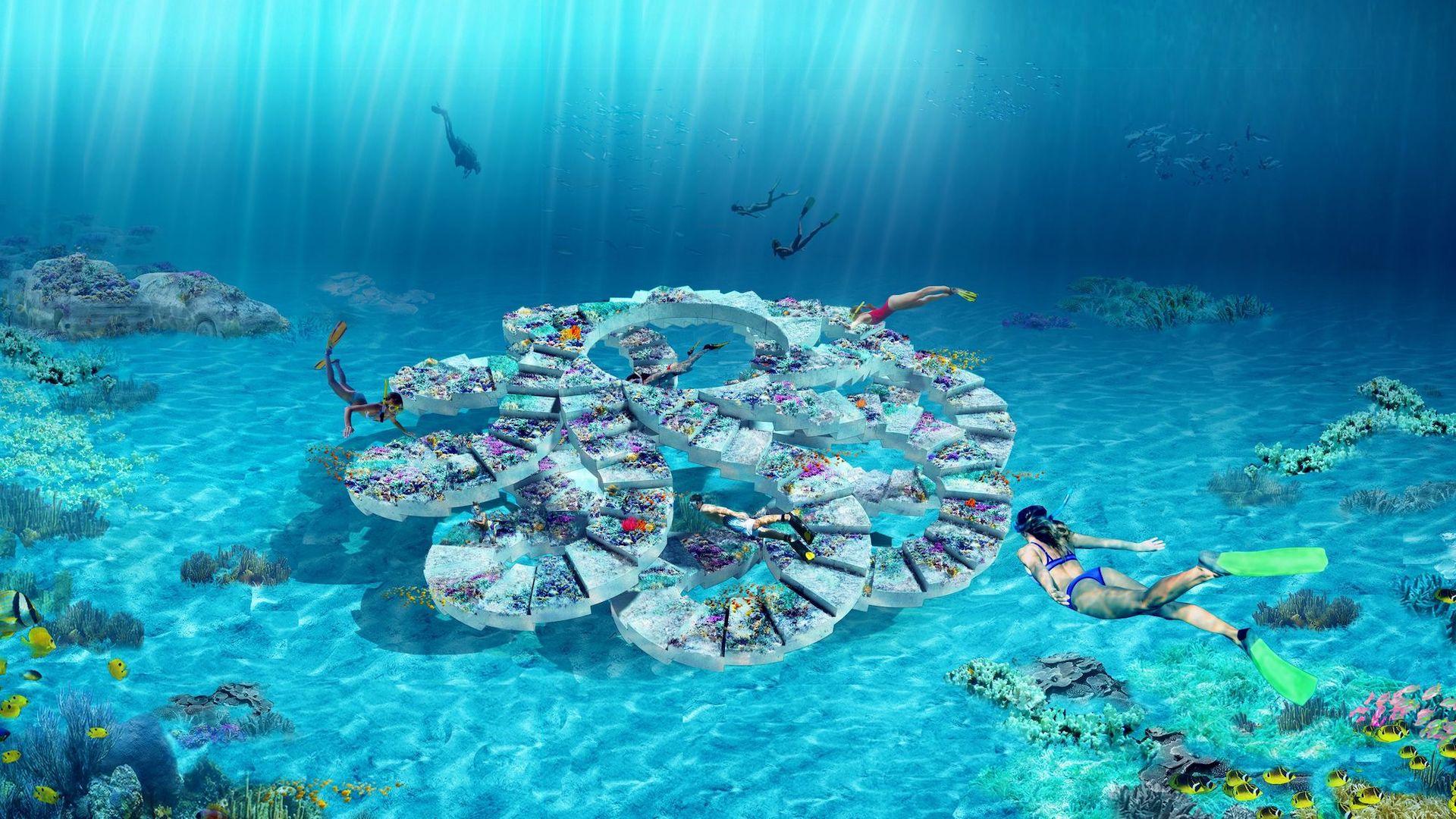 Viajar a Miami tendrá un plus: Reefline, esculturas submarinas en la costa
