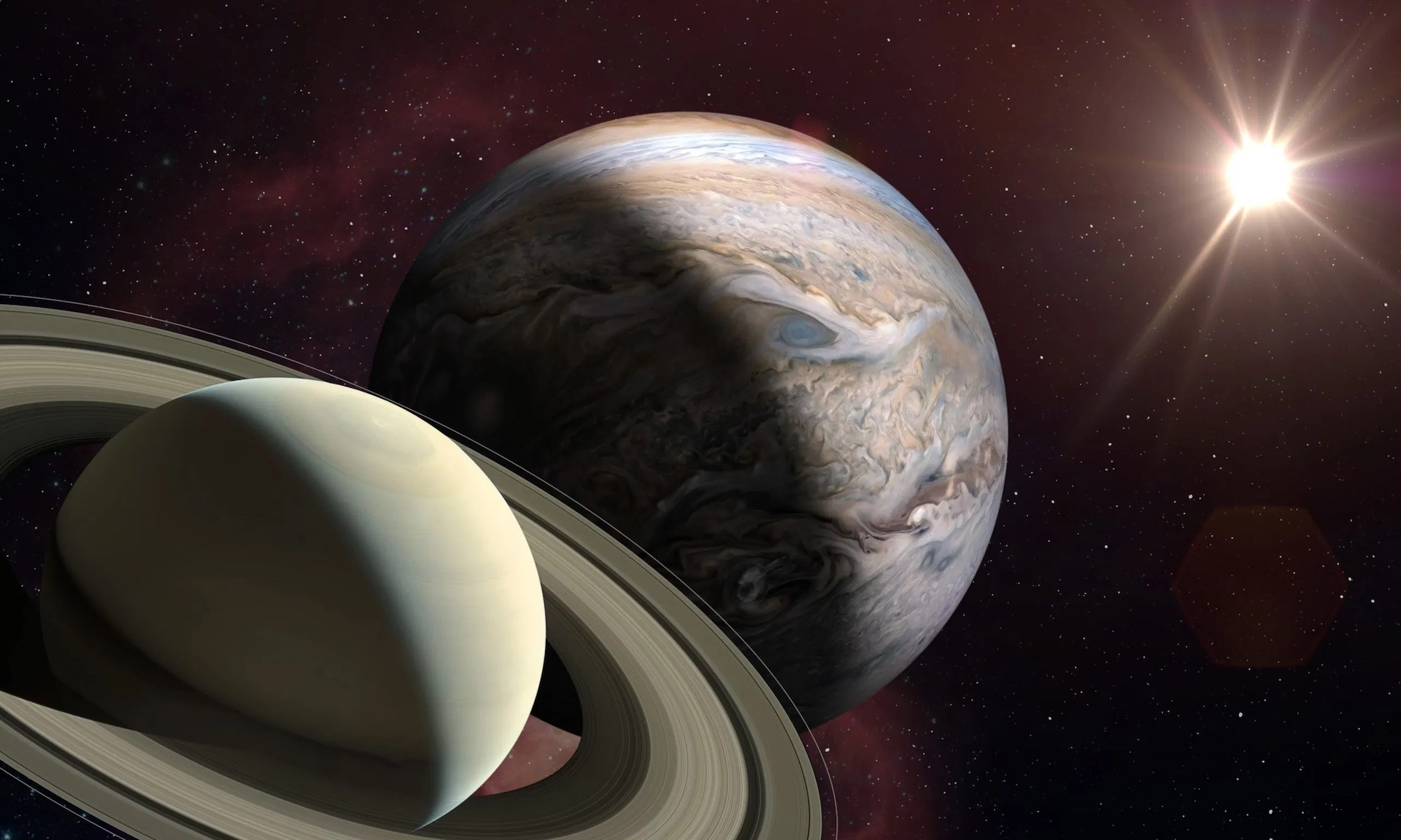 The Grand Conjunction of Jupiter and Saturn 2020