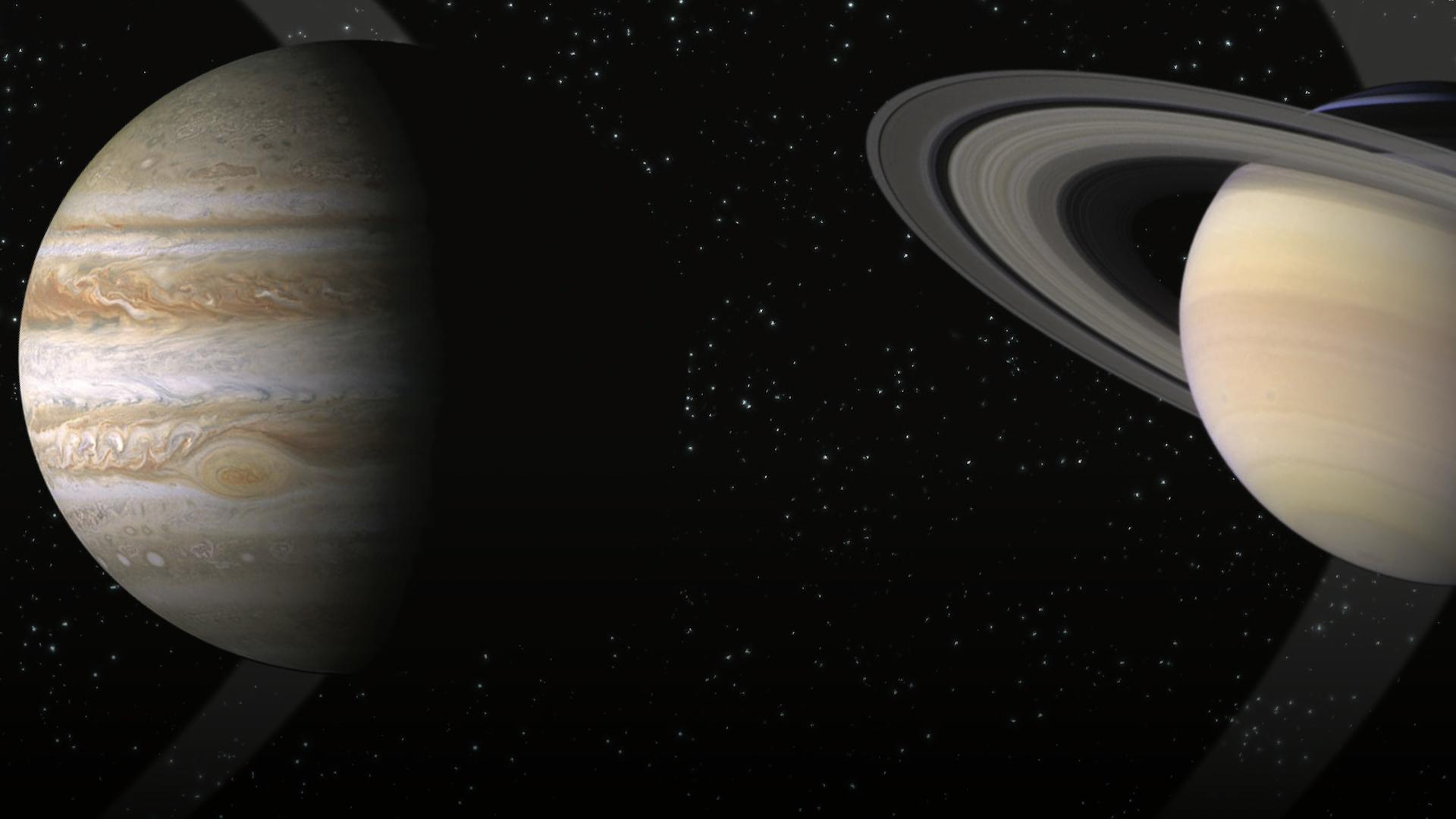 Cómo ver en vivo por internet a Júpiter y Saturno en conjunción