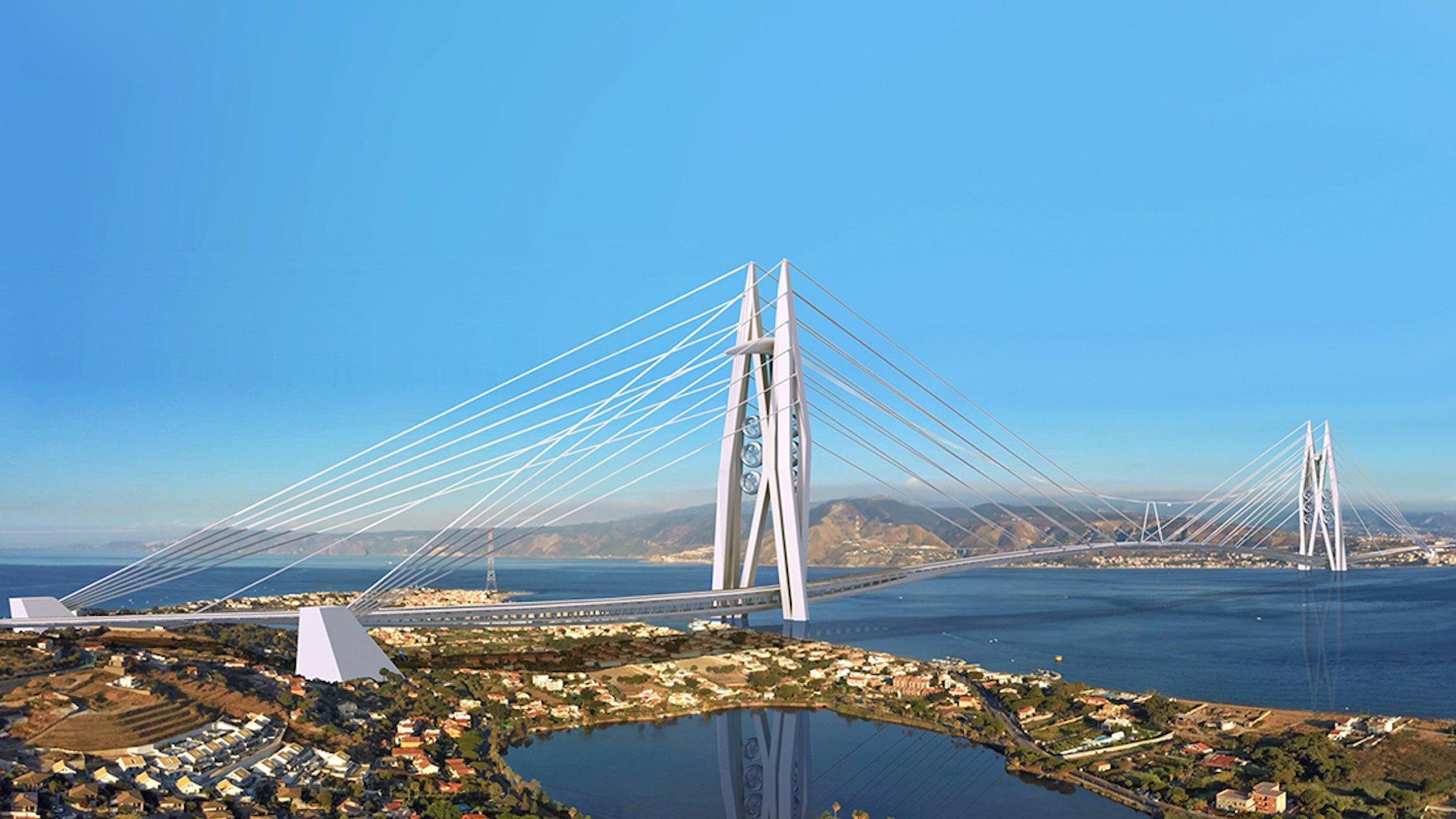Así será el puente más largo del mundo: unirá Sicilia y el sur de Italia