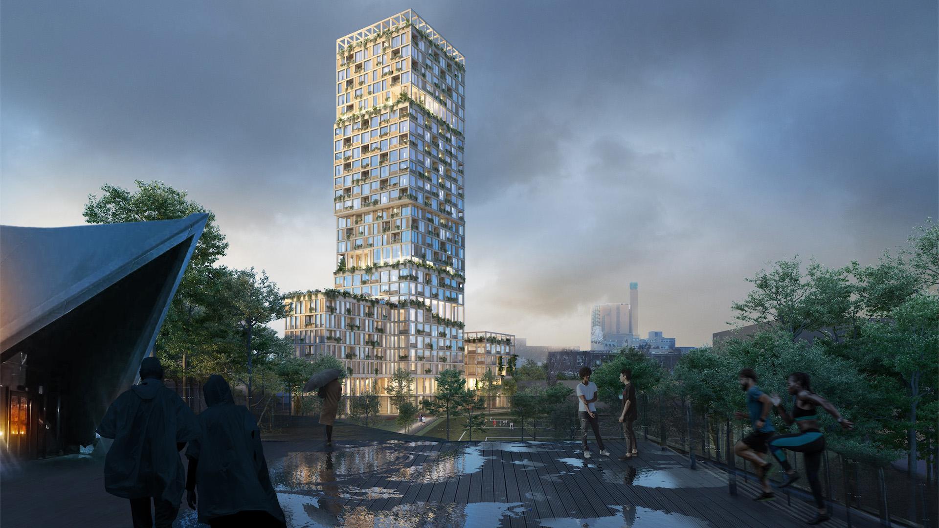 Así es WoHo Berlín, el original rascacielos residencial hecho de madera