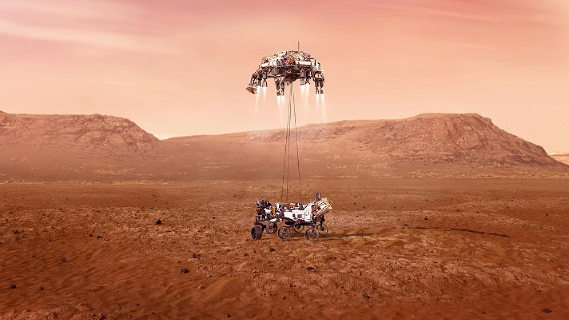 El video de la NASA que muestra el aterrizaje de Perseverance a Marte