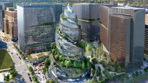 Así será la original torre de oficinas de Amazon en Virginia