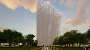 La novedosa torre de luz que alumbrará el corazón de Silicon Valley
