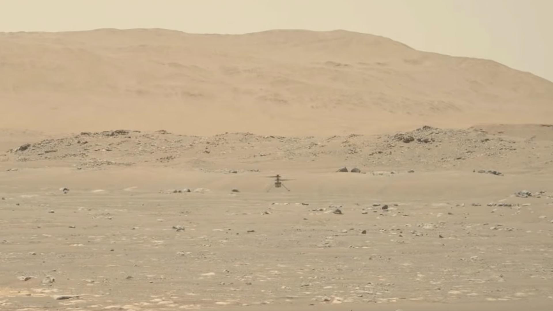 El video que muestra al helicóptero Ingenuity volar en Marte