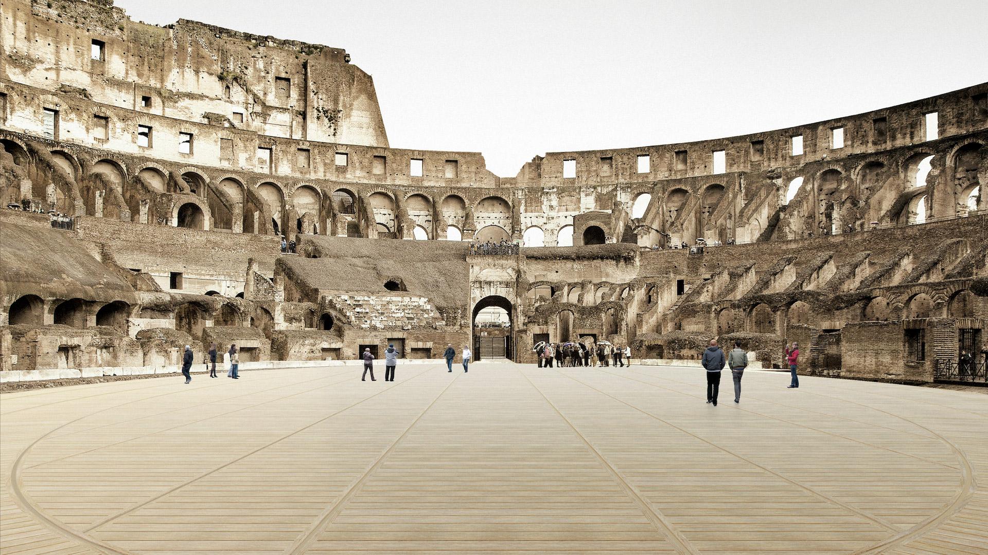 Remodelarán el Coliseo de Roma para tener un suelo móvil: video