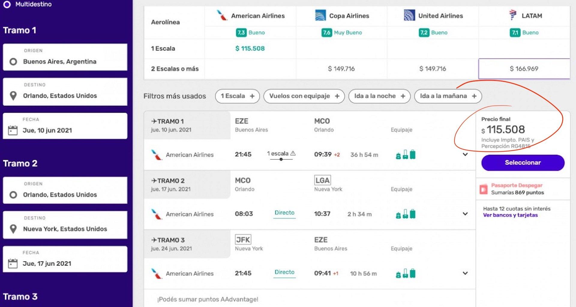 Cómo conseguir pasajes baratos para viajar a Estados Unidos