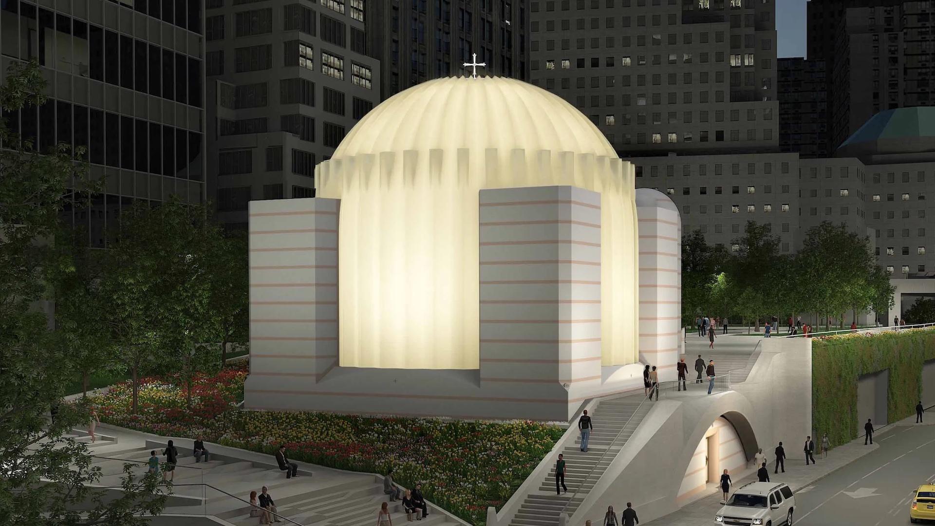 Así quedará la iglesia frente al One World Trade Center