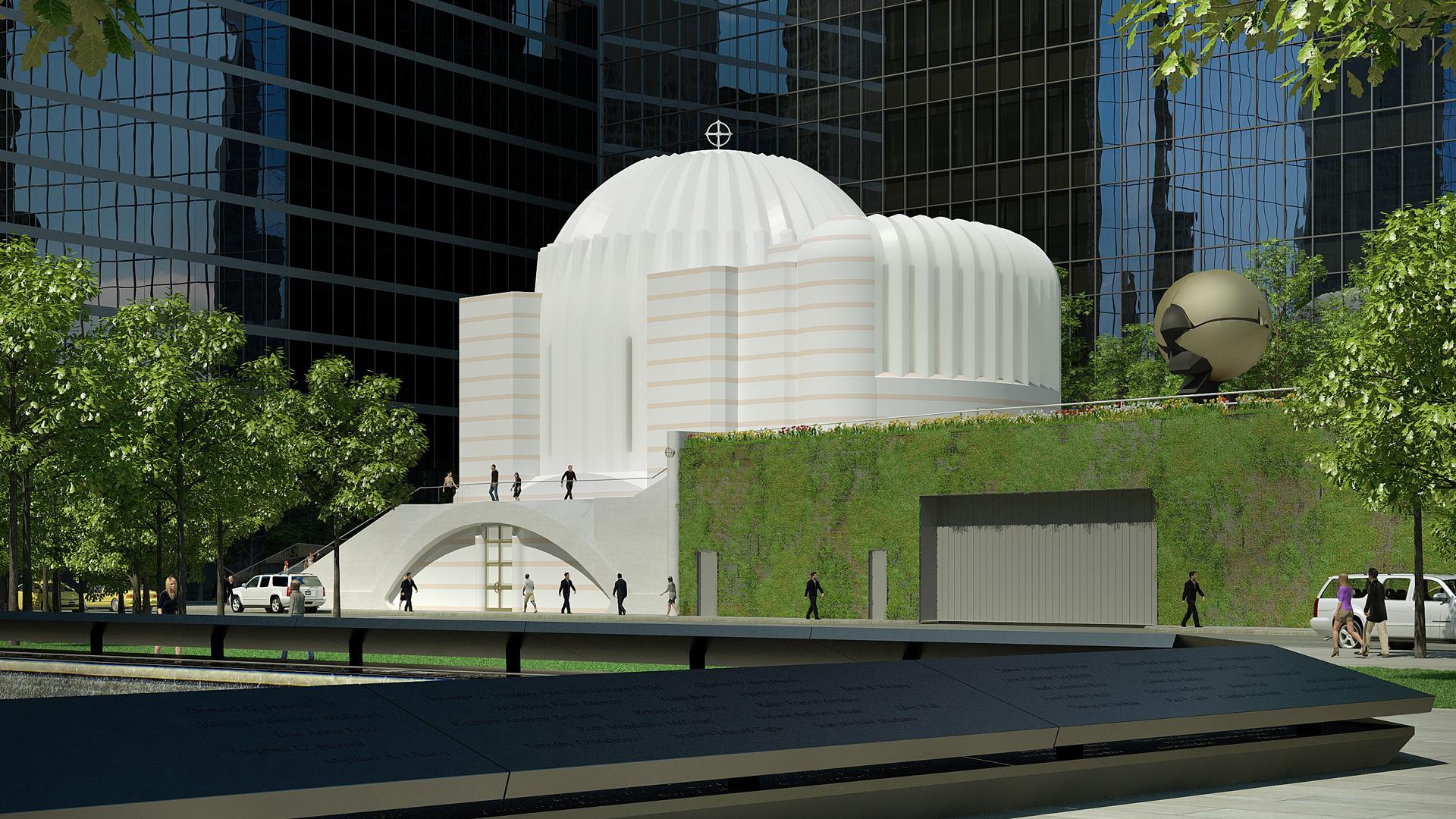 Así quedará la iglesia St. Nicholas frente al One World Trade Center