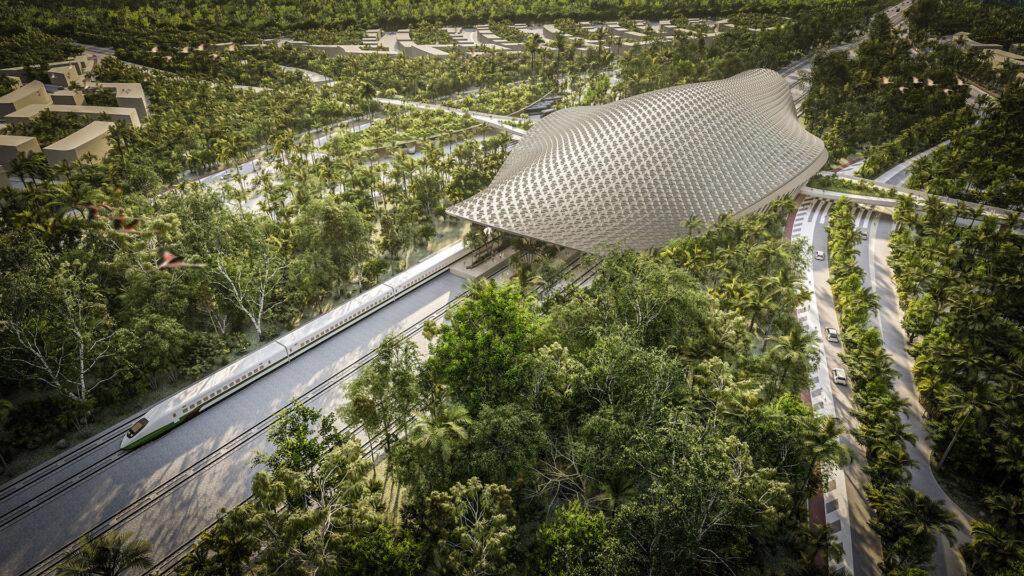 Viajar a Tulum: así será la increíble estación del Tren Maya en México