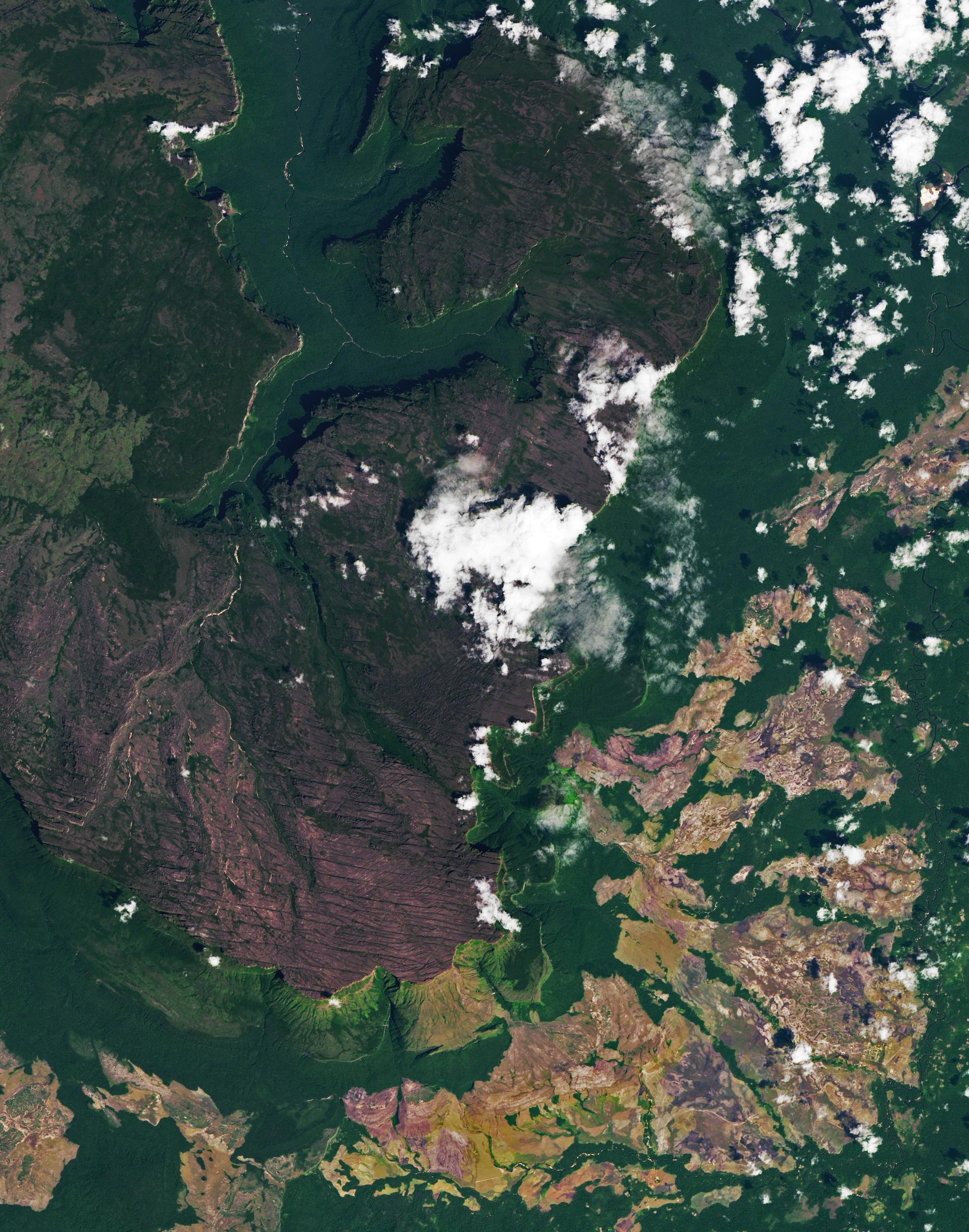 Venezuela: así se ve el Parque Nacional Canaima desde el espacio
