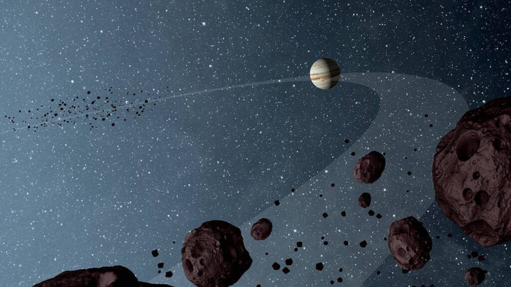 ¿Qué son los asteroides troyanos y cómo recibieron sus nombres?