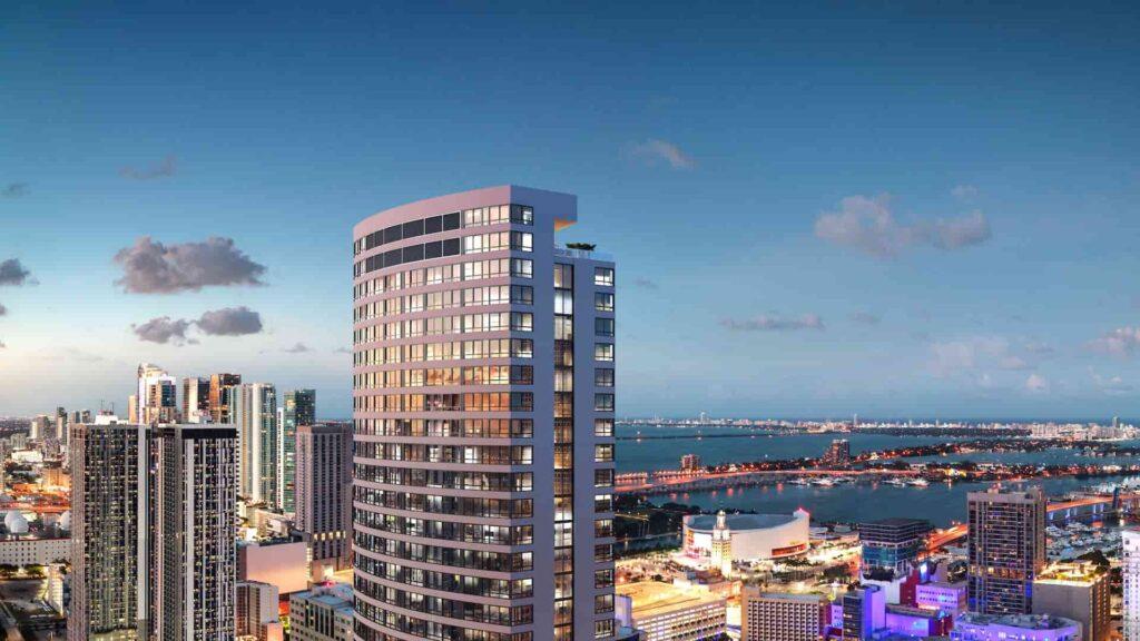 Así será District 225: la primera torre de lujo de Miami con servicio Airbnb